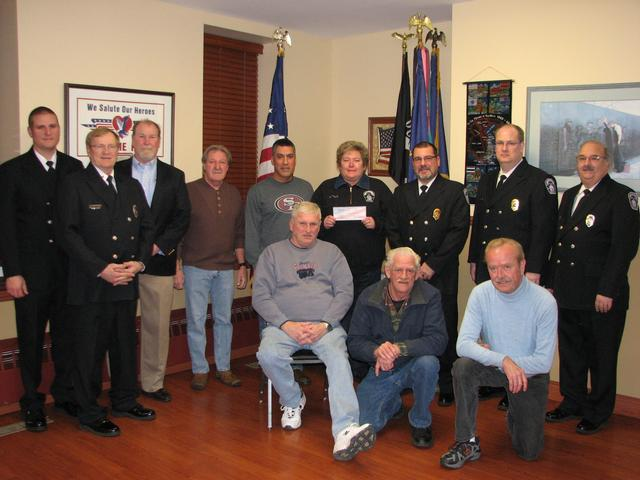 The VFW Board of Directors and members of the Thorndale Volunteer Fire Company.