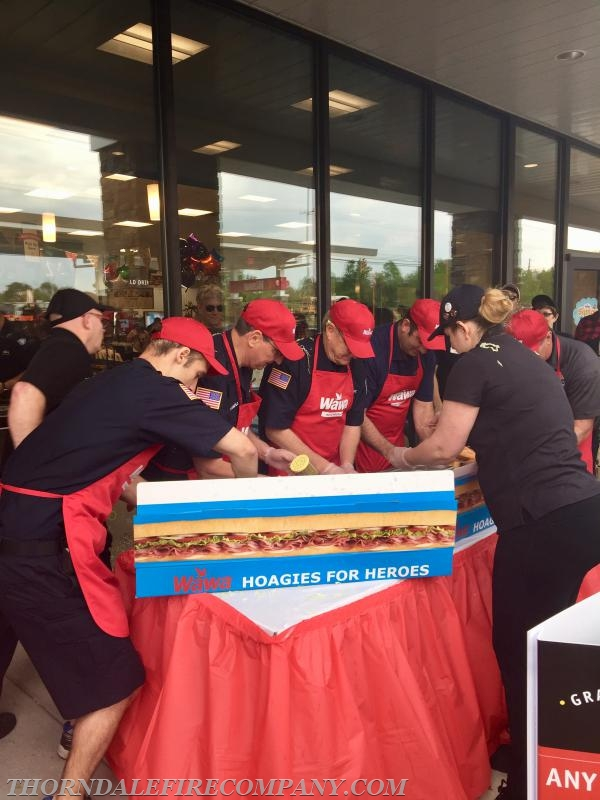 Working as fast as we could, our team made 28 hoagies in a 3-minute time frame.