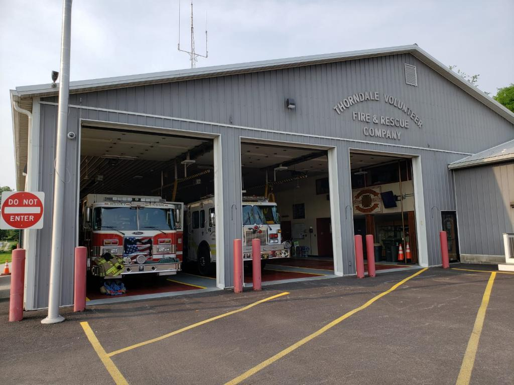 Engine 33-1 standing by at Station 38 on Friday May 31st