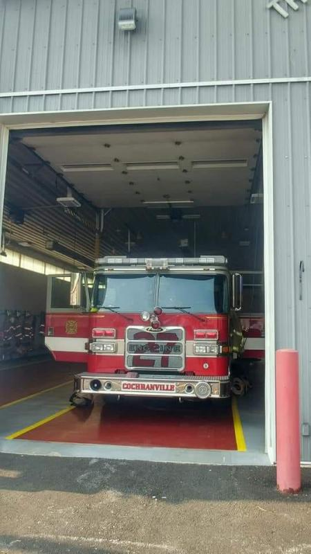 Engine 27-2 standing by at Station 38 on Saturday 6/1